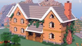 бОЛЬШОЙ КРАСИВЫЙ ОСОБНЯК в Майнкрафт - Как построить дом Minecraft