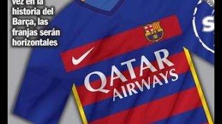 La nueva camiseta de barcelona para el pes 2015 espero que les guste viene en tres equipaciones titular, suplente, tercero y bueno la...