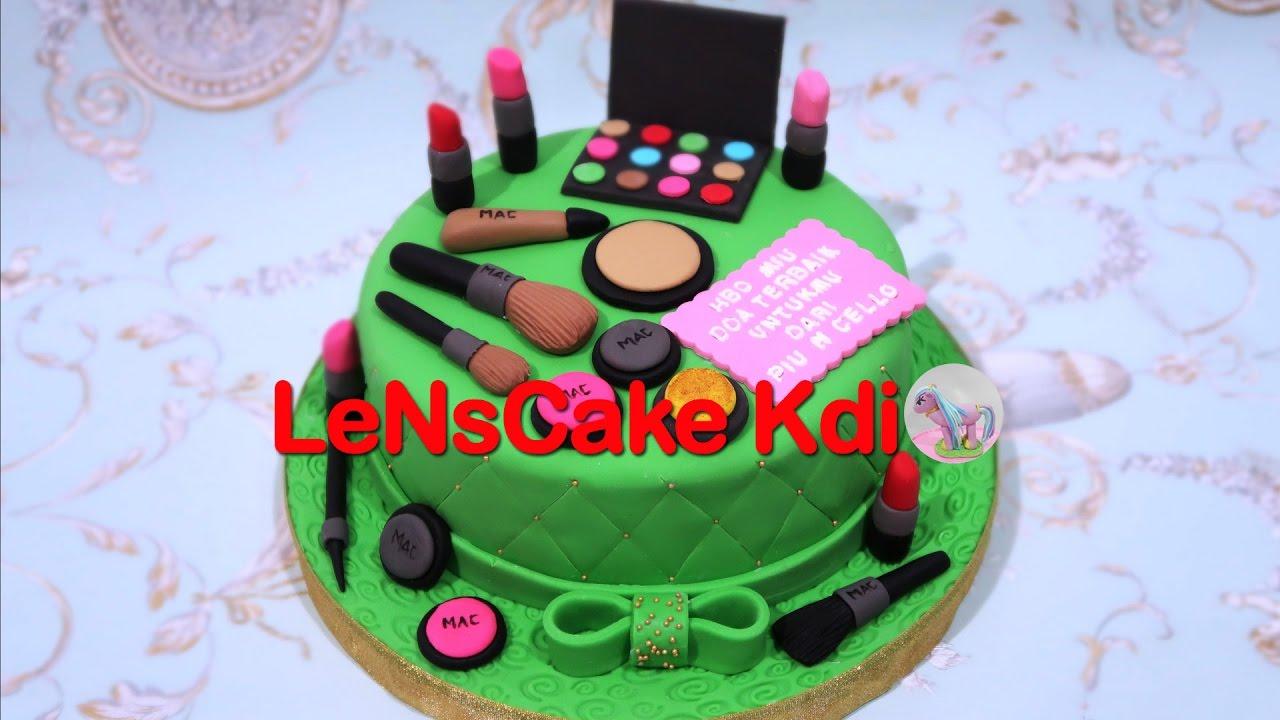 How to Make Birthday Cake Makeup Cara Membuat Kue Ulang Tahun