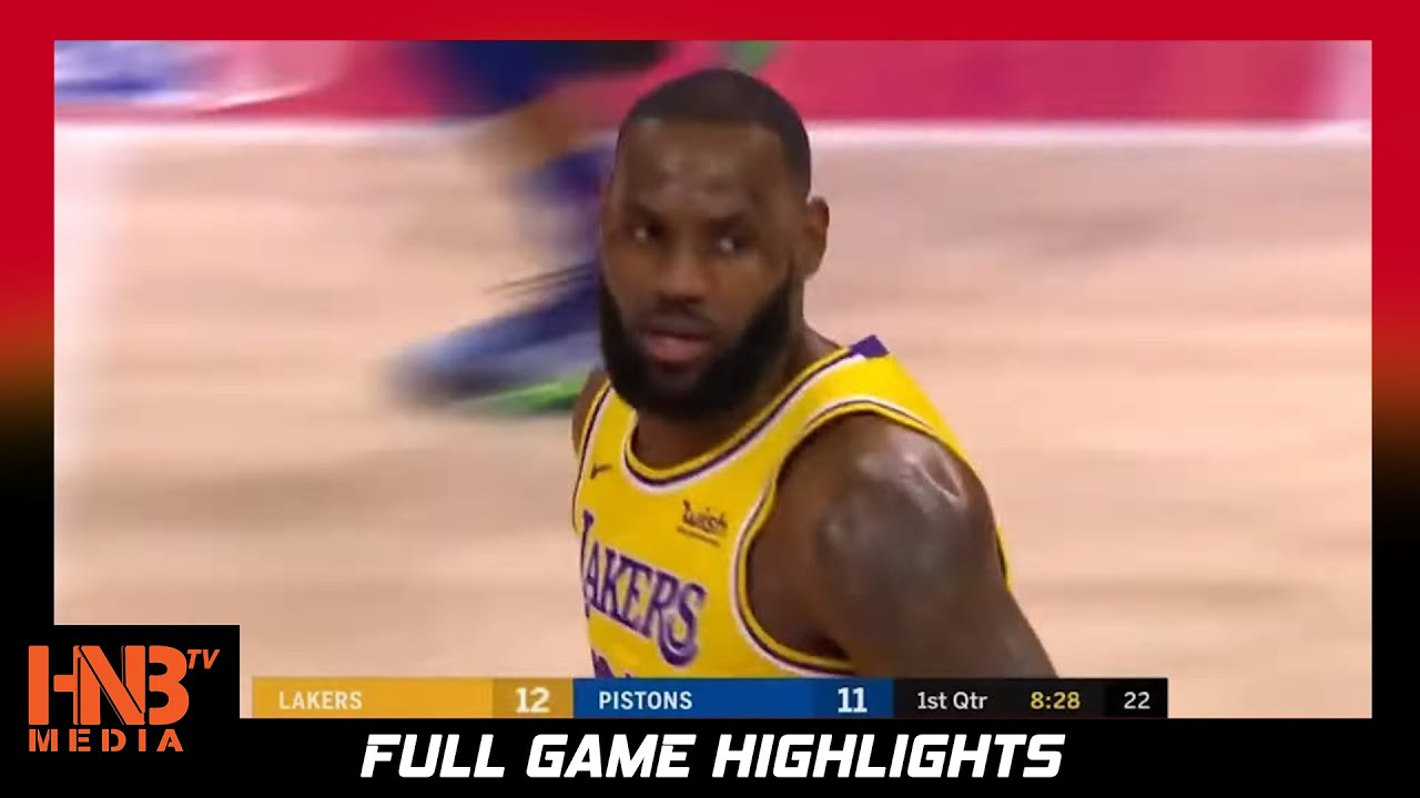 Detroit Pistons vs LA Lakers 1.28.21 | Full Game Highlights