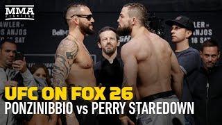 UFC on FOX 26: Mike Perry vs. Santiago Ponzinibbio Staredown - MMA Fighting