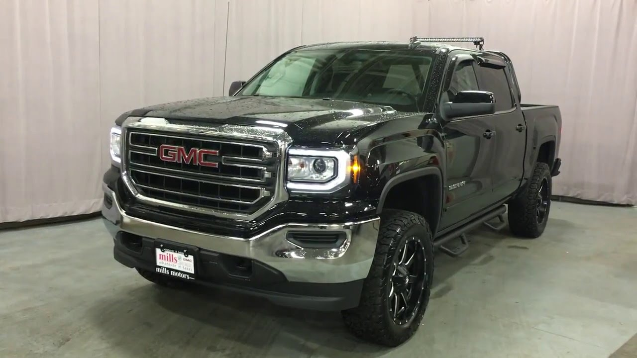 Gmc Sierra Sle Vs Slt >> 2016 GMC Sierra 1500 SLE Crew Cab 4WD Offroad lights 4in lift Oshawa ON Stock # 160411 - YouTube