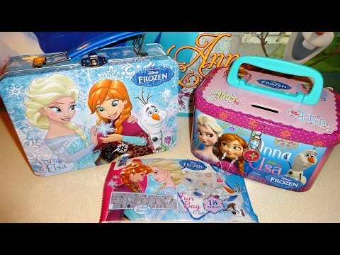 Disney Frozen Elas & Anna Giant Surprise Gift Box & Lunch Bag Xmas Toys Eggs Bags