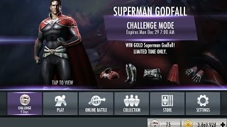 Injustice Mobile: Farming the Character Challenge (playing through Superman Godfall on standard)