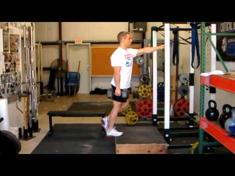One Legged Dumbbell Calf Raise Exercise