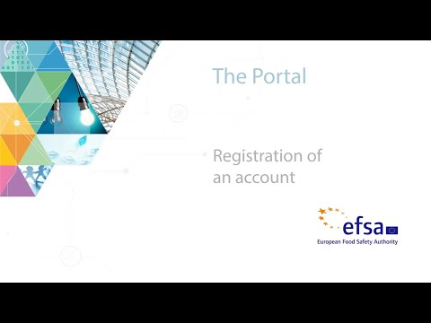 Registration of an account
