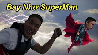Thử Thách Làm SuperMan Bay Lượn Trên Bầu Trời Phê Không Tưởng | TQ97