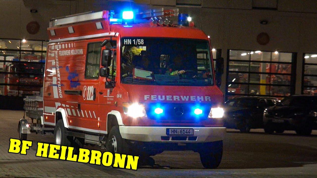 Hlf Wasserrettungszug Feuerwehr Heilbronn Mit Hlf Der Freiwilligen Feuerwehr