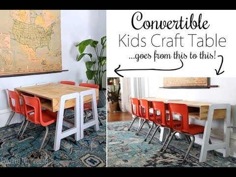 Convertible Kids Craft Table Tutorial   With FREE Building Plans!