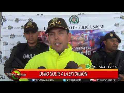 DURO GOLPE A LA EXTORSIÓN