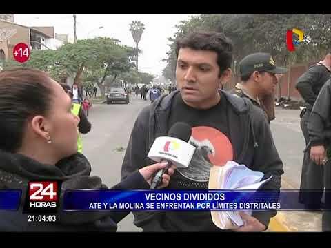 Serenos de Ate y La Molina se enfrentaron por sardiles que divide ambos distritos
