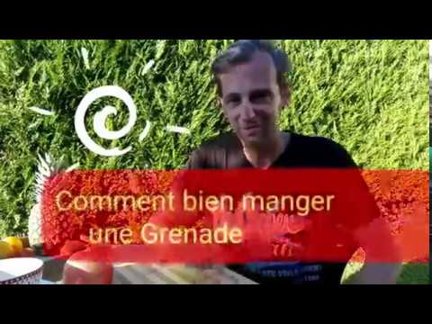comment manger une grenade youtube. Black Bedroom Furniture Sets. Home Design Ideas