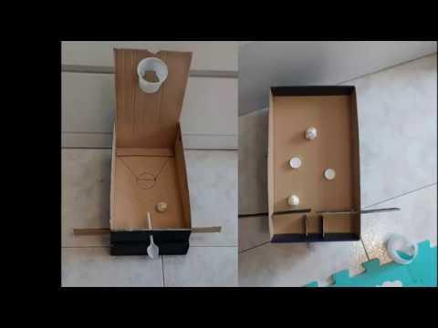 Baloncesto Y Pinball Con Cartón Juego Para Niños Youtube