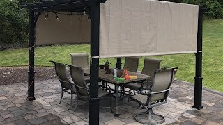 Garden Treasures Pergola With Canopy - Unboxing and Review