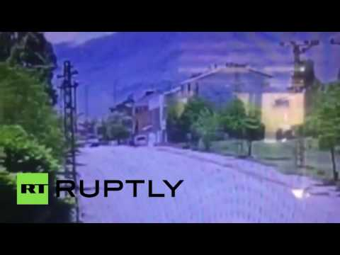 Car bomb attack in Tunceli province, Turkey caught on camera
