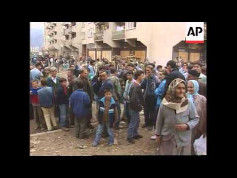 Bosnia - Daily UN Gorazde Mail Run Starts