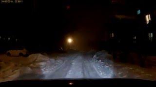 Prestigio RoadRunner 555 в туман и ночью.