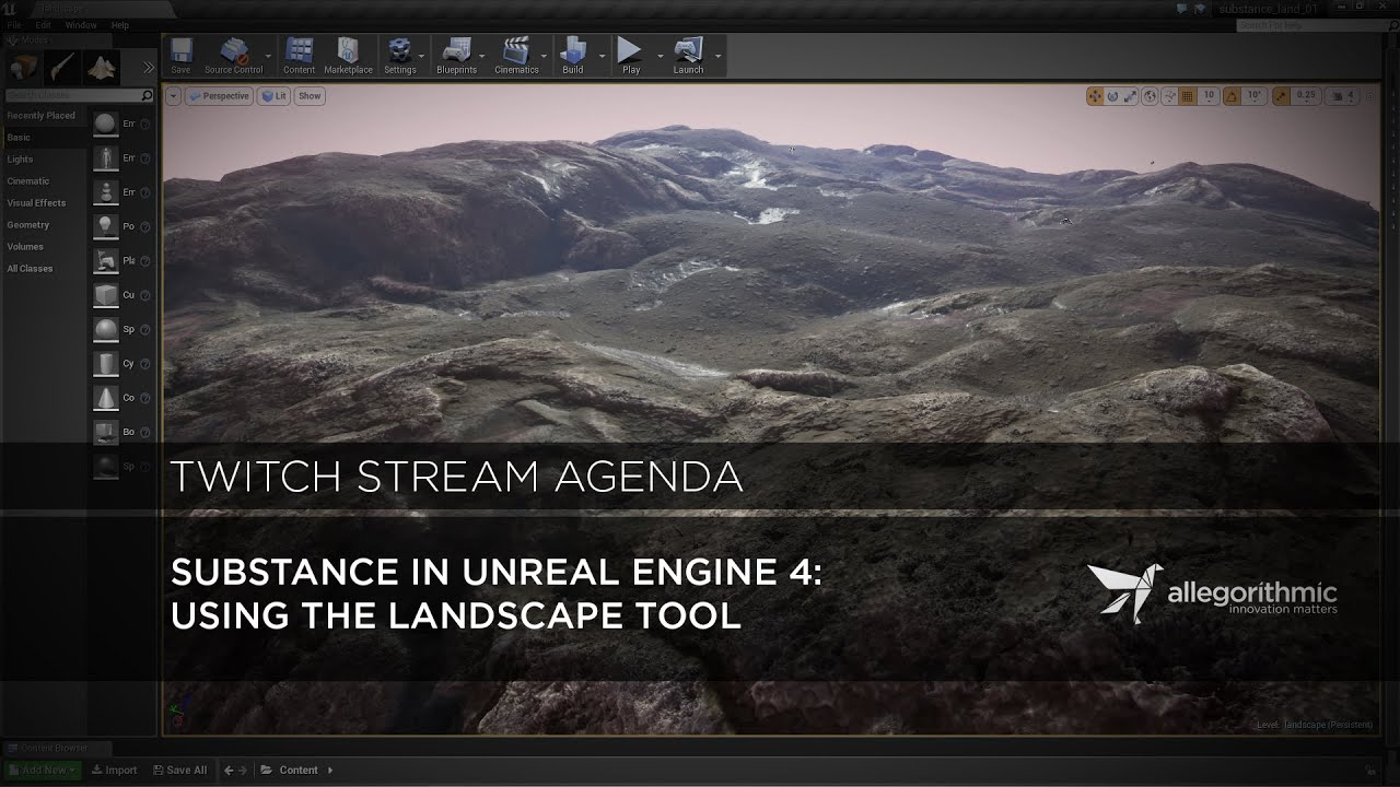 Substance in UE4: Creating Landscape Material
