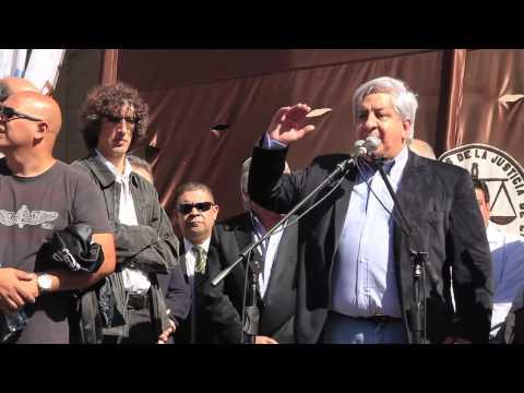 No a la reforma judicial - Acto Palacio de Justicia con Julio Piumato 17/04/2013