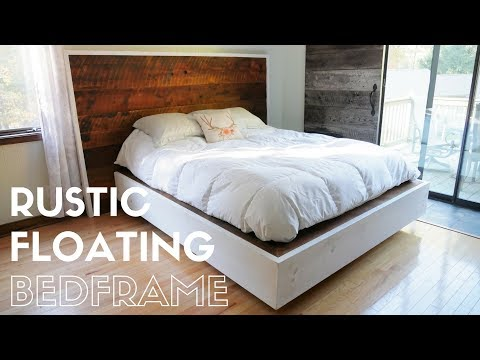 DIY Rustic Floating Bed Build