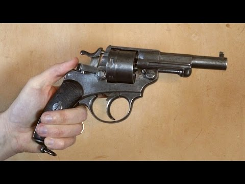 A look at an antique French 1873 revolver (with firing demonstration)
