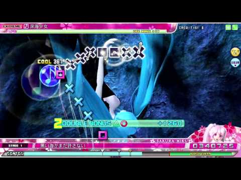 Project DIVA Arcade - 深海少女 (Deep Sea Girl) EXTREME PERFECT [Miku]