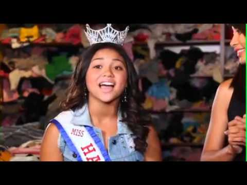 Miss Hawaii High School shopping at 88 Tees in Honolulu, Hawaii