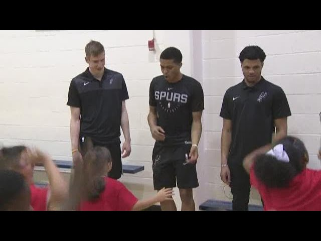 New Spurs make good first impression with local kids – San Antonio