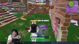 Janet Toast and Foki Win Their SECOND Game #Fortnite Moment