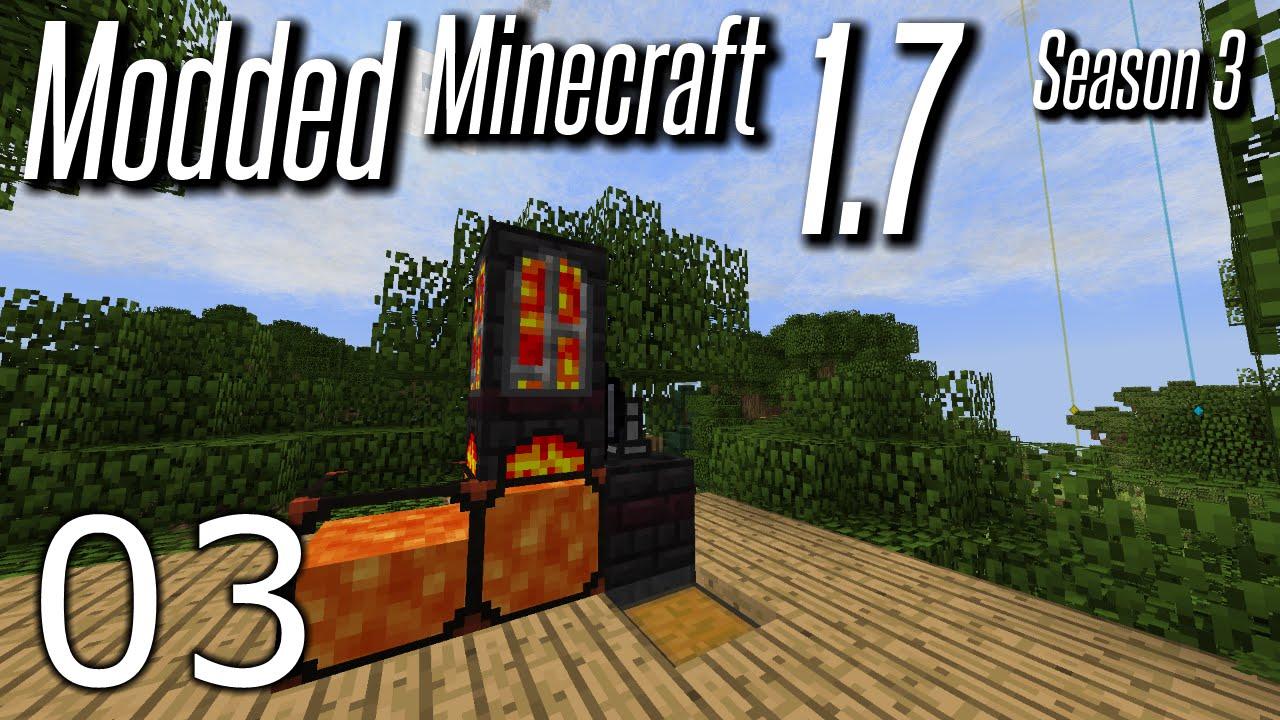 Modded Minecraft 1.7 - S3E03 - Crucible Furnace - YouTube