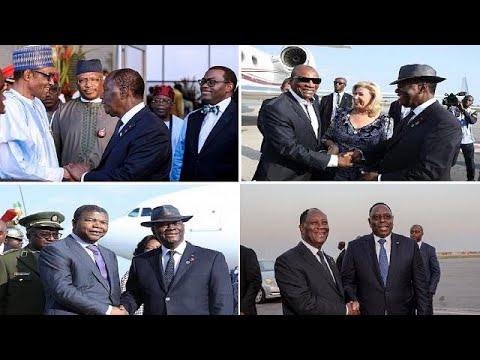 [Photos] African leaders arrive in Ivory Coast for 5th A.U.-E.U. summit