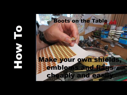 Make Your Own Shields, Emblems And Flags Cheaply And Easily