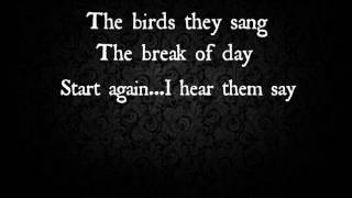 Up With The Birds - Coldplay (cover) lyrics video