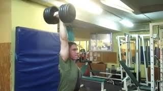 Вырывание гантели 39,5кг. Попытка на 42кг. 39,5 kg dumbbell one hand muscle swing. BWT - 65 kg