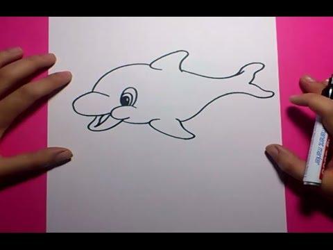 Como dibujar un delfin paso a paso 2  How to draw a dolphin 2