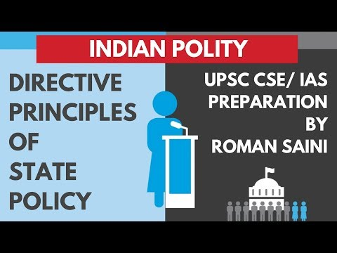 Polity: Directive Principles of State Policy 4.1  UPSC IAS Preparation Roman Saini
