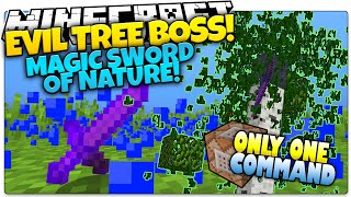 Minecraft   EVIL MAGIC TREE BOSS   Sword Of Nature   Only One Command (One Command Creation)