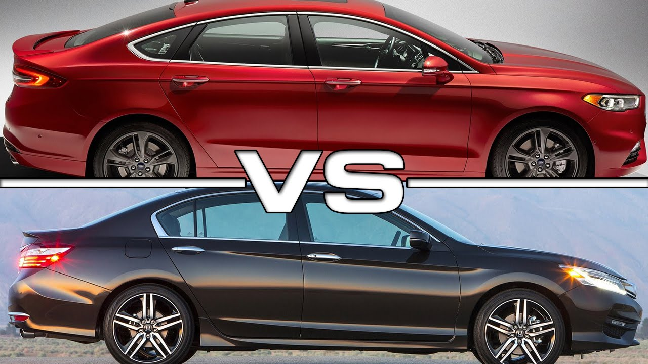 2017 ford fusion vs 2016 honda accord youtube