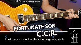 Fortunate Son - Demo Cover con Tabs y acordes (cómo tocar)   Guitarraviva2