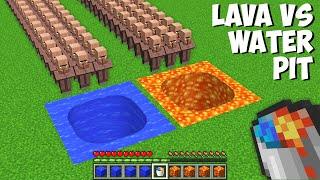 Which PIT IS BETTER LAVA VS WATER In Minecraft ? STRANGEST PASSAGE !