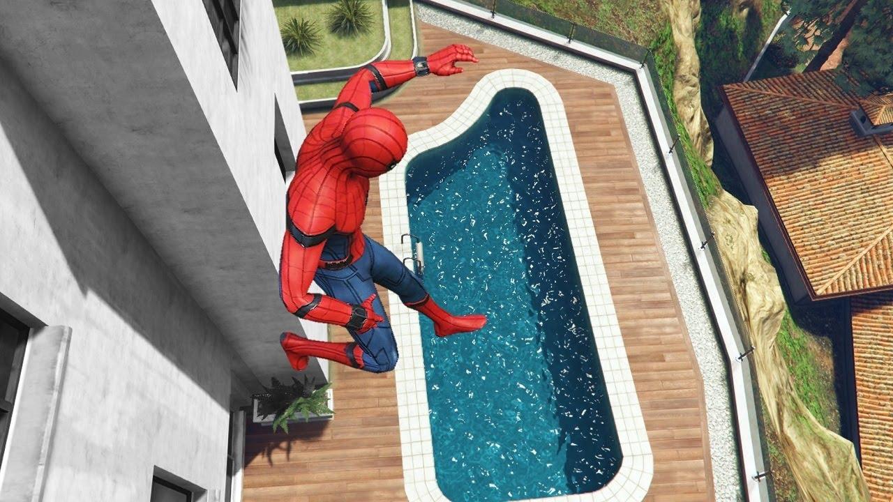 GTA 5 Water Ragdolls | SPIDERMAN Jumps/Fails ep.16 (Euphoria physics | Funny Moments)