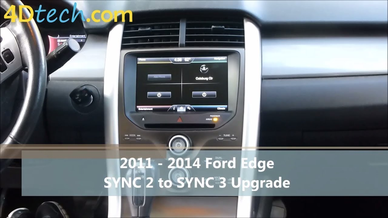 sync 2 to sync 3 upgrade 2011 2014 ford edge youtube. Black Bedroom Furniture Sets. Home Design Ideas