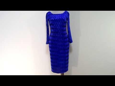 Синее платье из бархата