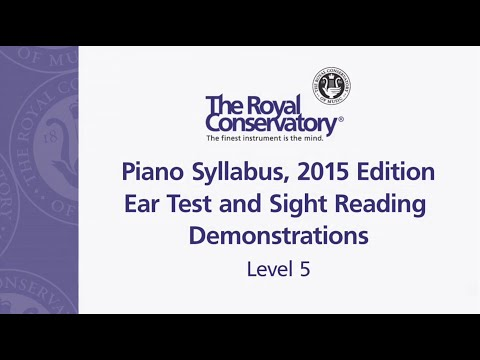 Ear Training and Sight Reading Requirements: Level 5