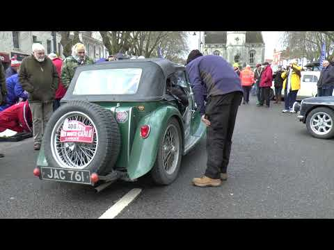 MG TC on the Monte Carlo Rally at the Banbury Passage Control 2018