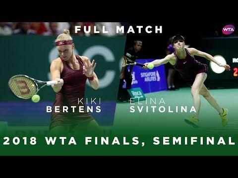 Kiki Bertens Vs. Elina Svitolina   Full Match   WTA Finals Singapore Semifinal