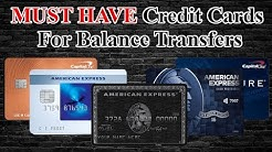 Best Credit Cards for Balance Transfers (Debt Consolidation)