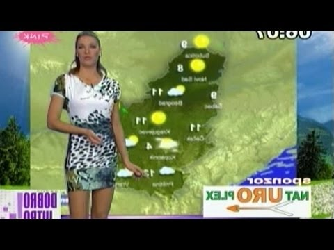 Sanja Kuzet Beautiful Serbian Weather Girl 06.06.2012