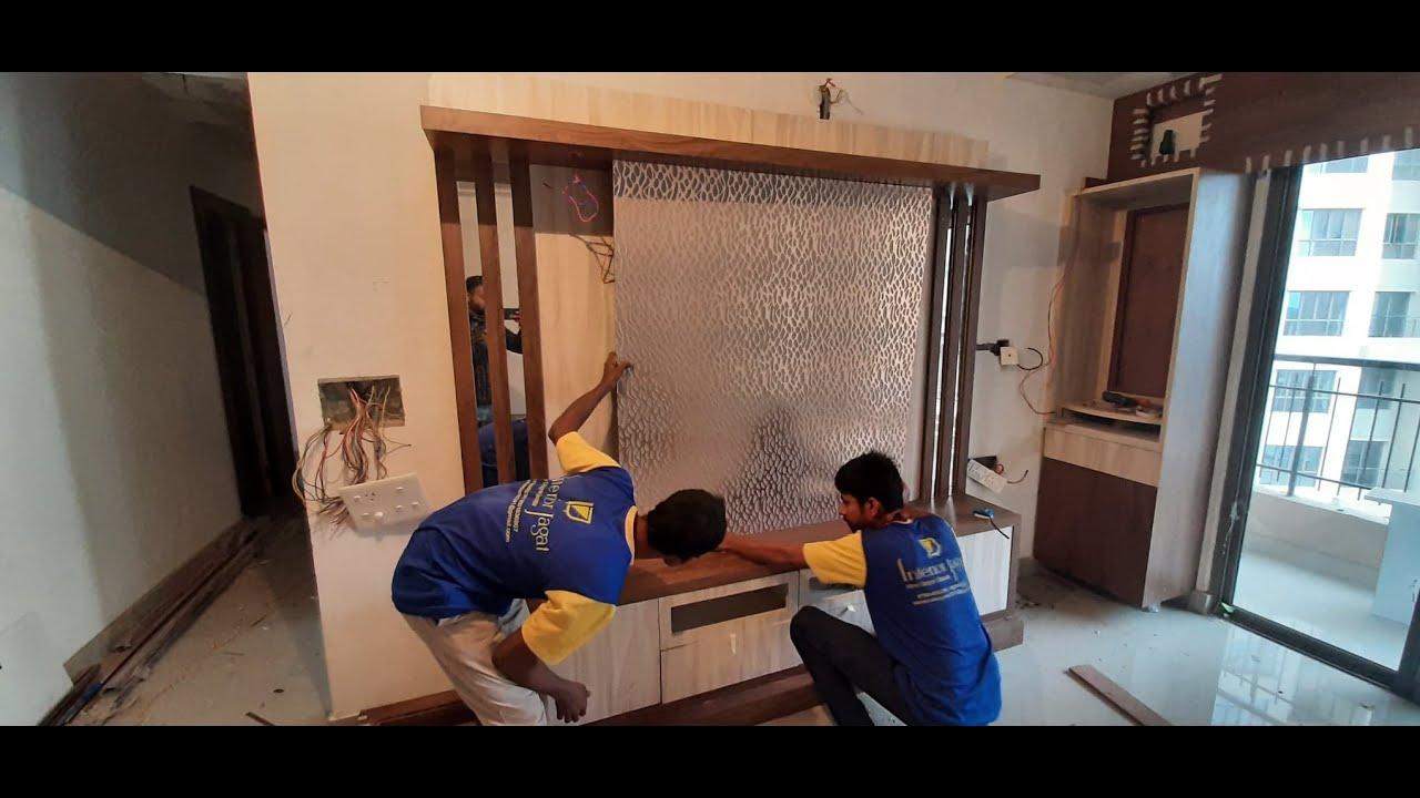 TV Cabinet में Charcoal Sheet कैसे लगाते है ? How to install charcoal sheet in a TV unit ?