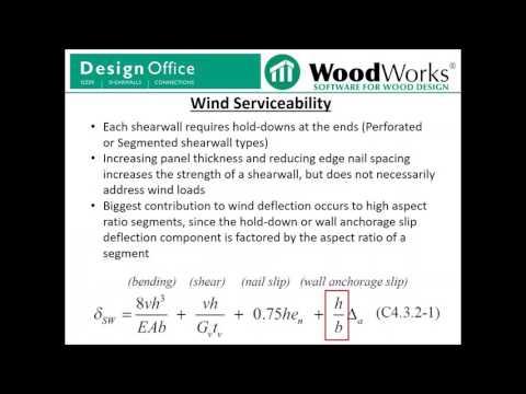 U S  Shearwalls Wind Loads - Part 1 - YouTube
